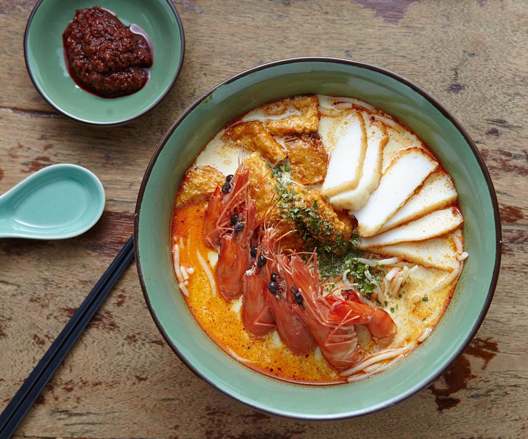 Singapore Laksa, one of the headline dishes at StraitsKitchen.