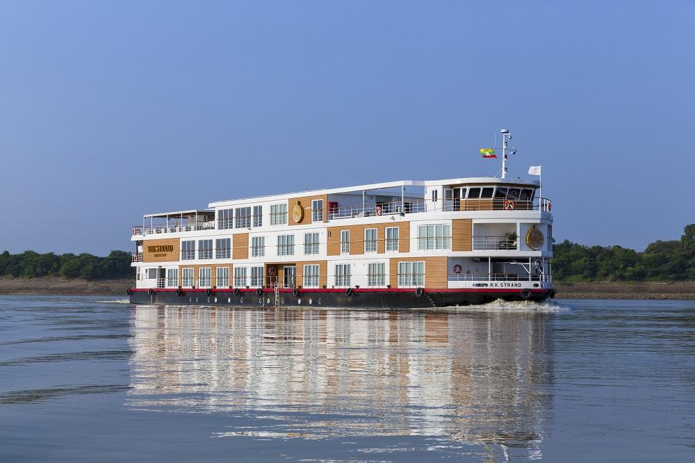 The Strand Cruise vessel plies between Mandalay and Bagan.