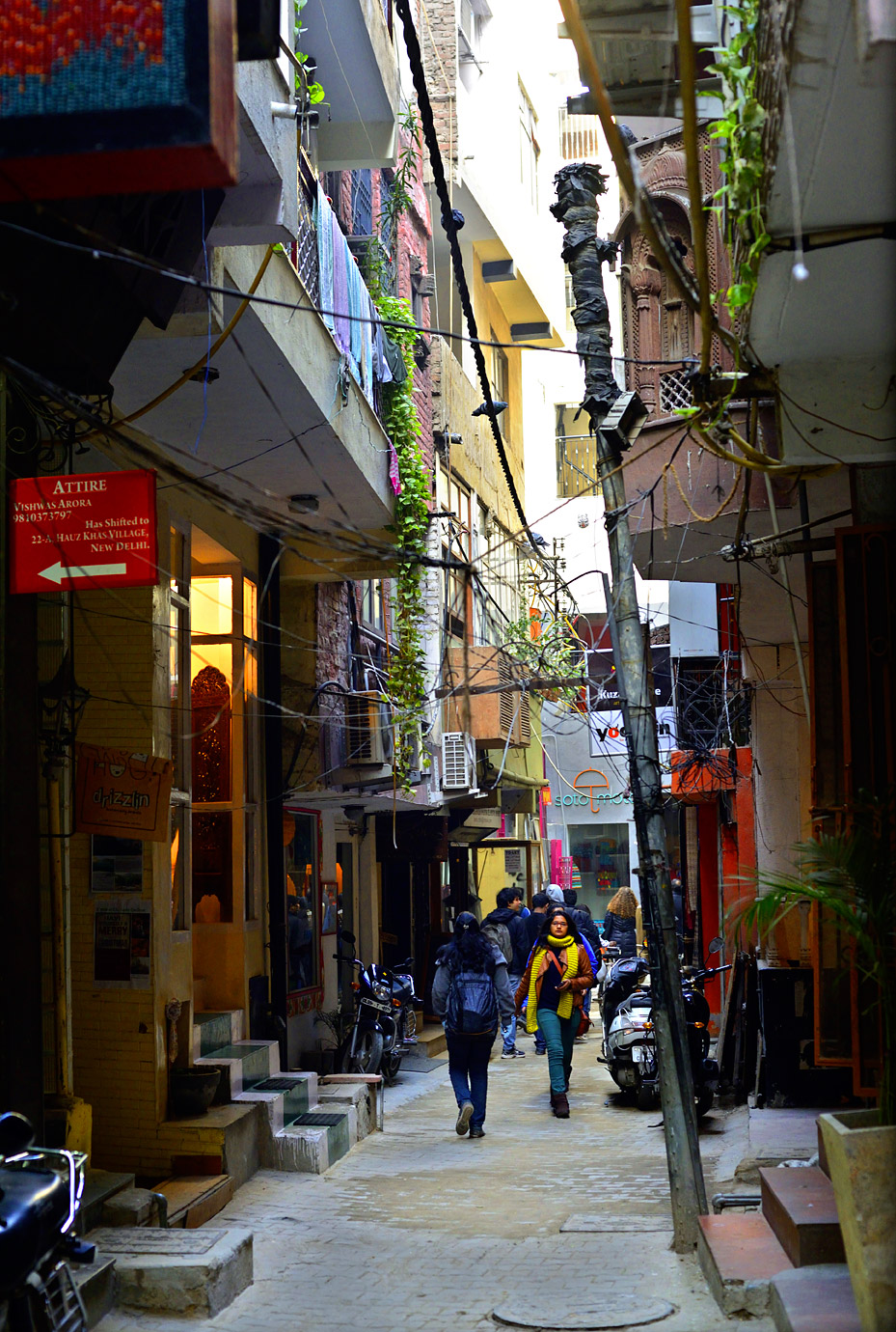 Hauz Khas is a maze of narrow lanes and alleys.