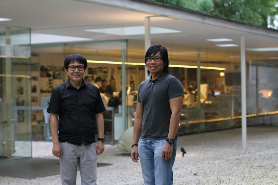 Ferry Ridwan and Antony Liu at Studio TonTon.