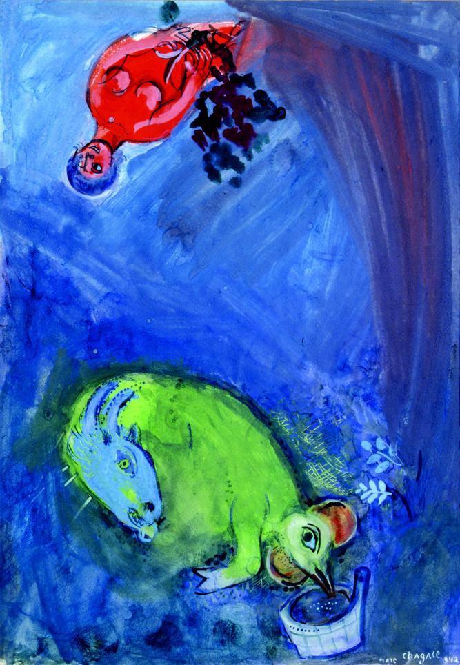 Chagall's Study for Spring Time.