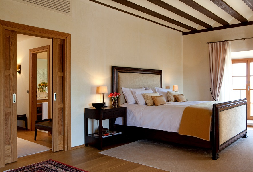 Each of the 22 rooms is soundproof and has oak floors, walnut furniture, Exvoto toiletries, and vineyard views.