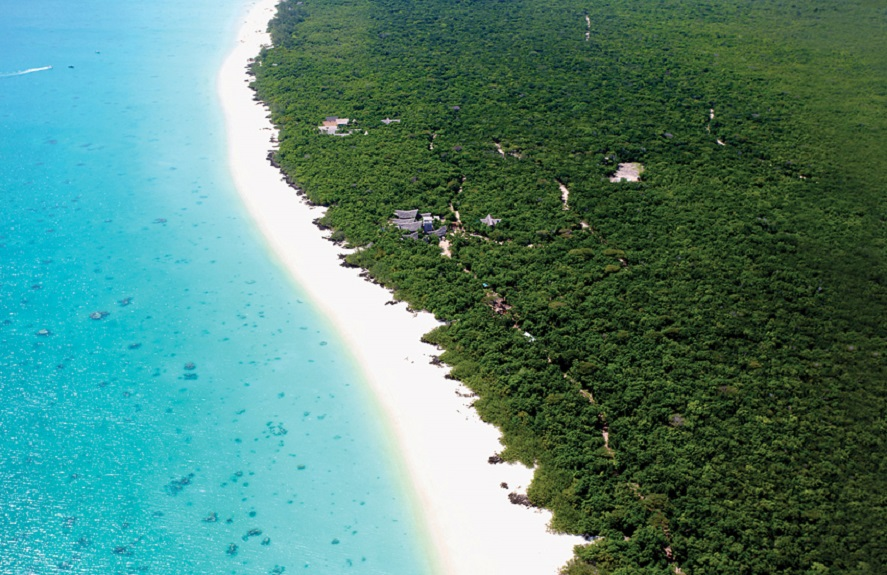 Off the coast of Mozambique, Vamizi Island welcomes visitors with 10 timber villas secluded alongside the ocean.