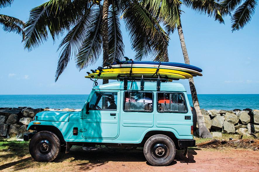 One of Surf & Soul's vintage Ambassador surf wagons.
