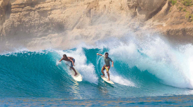 Surf in Sumba, one of the destinations.