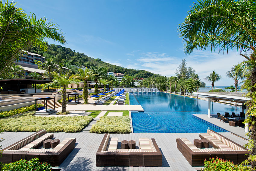 The Hyatt Regency Phuket Resort's expansive infinity pool.