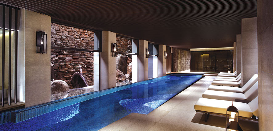 The hotel's 20 meter indoor pool.