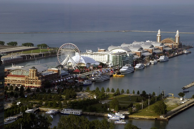 The Navy Pier in Chicago, one of the featured attractions in the Chicago Vitality Guide.