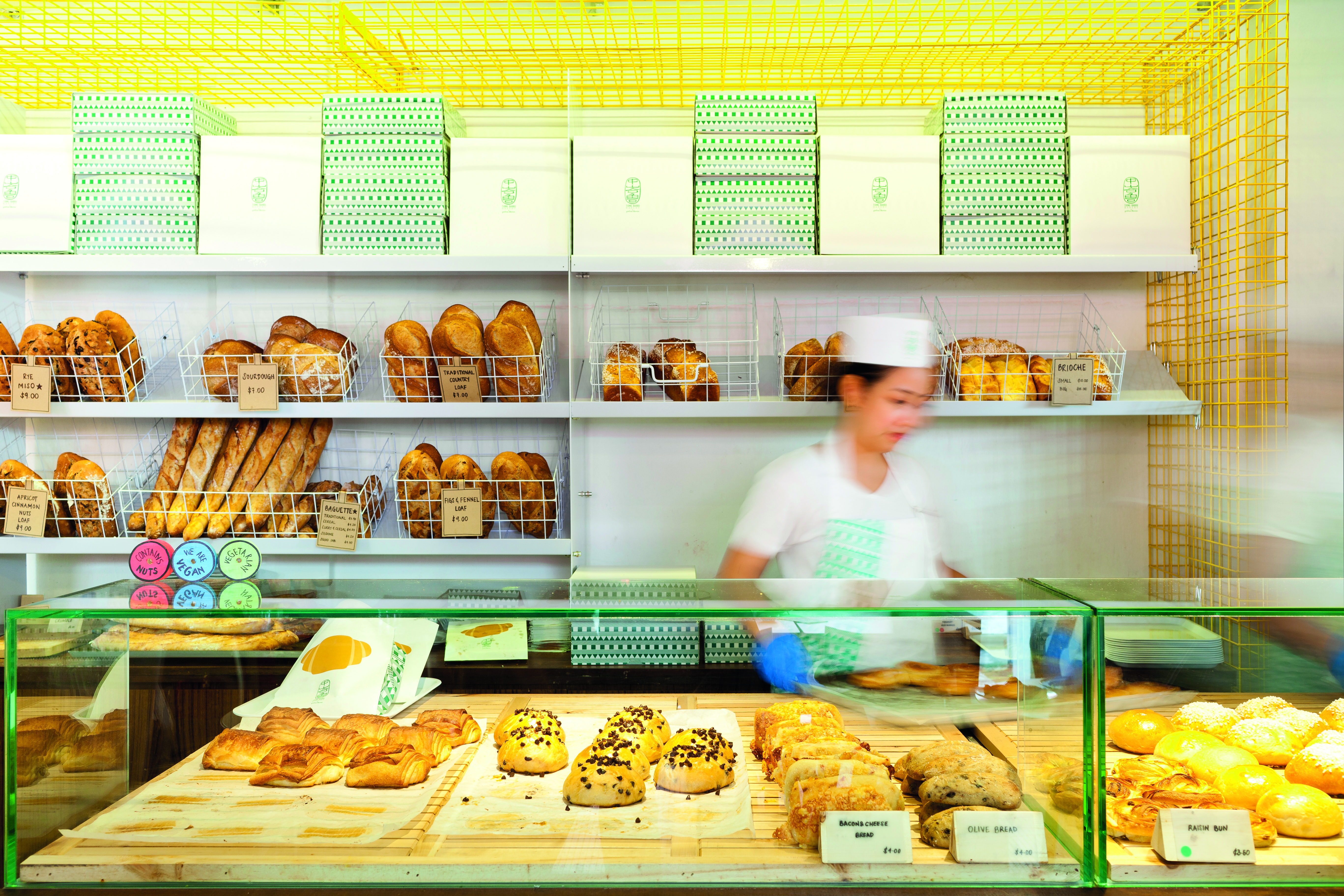 A peek into the Tiong Bahru Bakery.