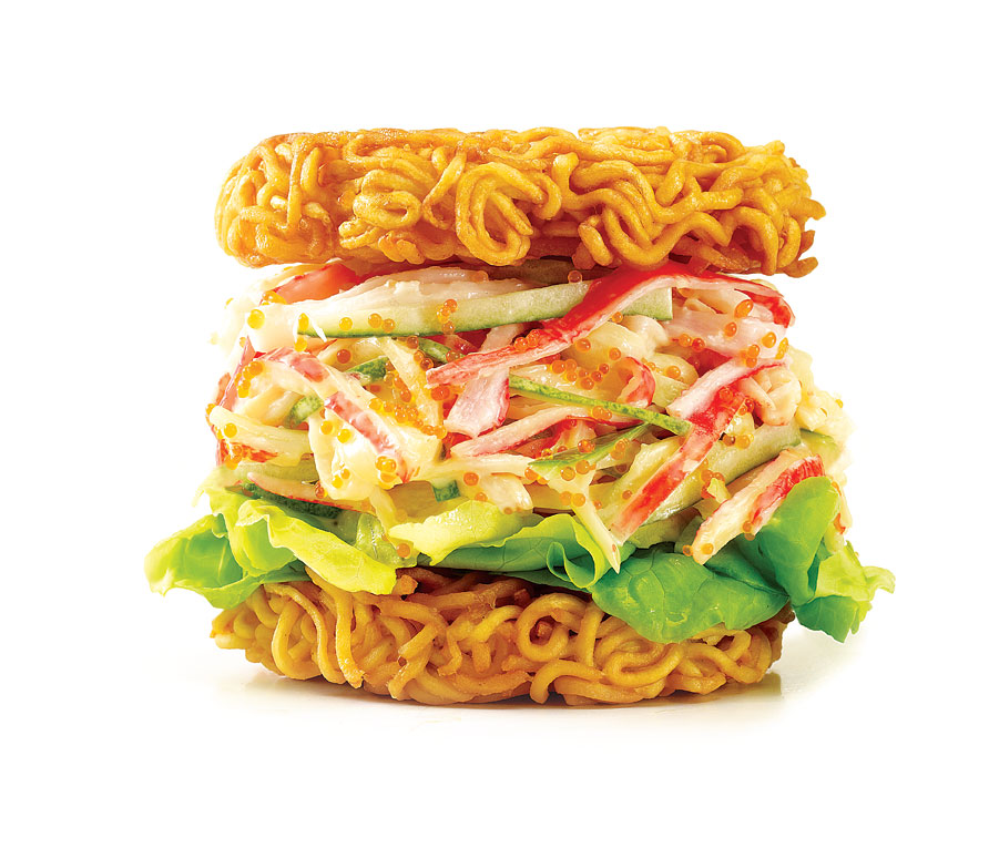 The Travelling COW food truck tested out its version of the ramen burger at the U Factory at the Gillman Barracks.