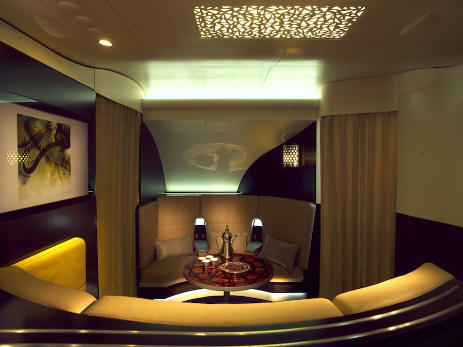 The Lobby lounge aboard the new A380.