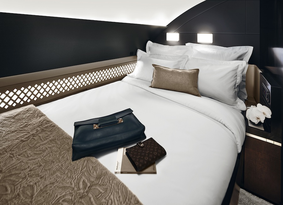 The Residence by Etihad features three rooms spanning 125 square feet.