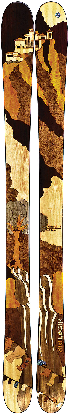 The Colorado-based ski manufacturer's  in-house artist can customize each ski order.