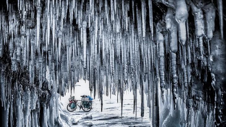 Jakub Rybicki received Best Single Image in a Portfolio for this image taken during an 800-kilometer bike trip across the frozen surface of Siberia's Lake Baikal.