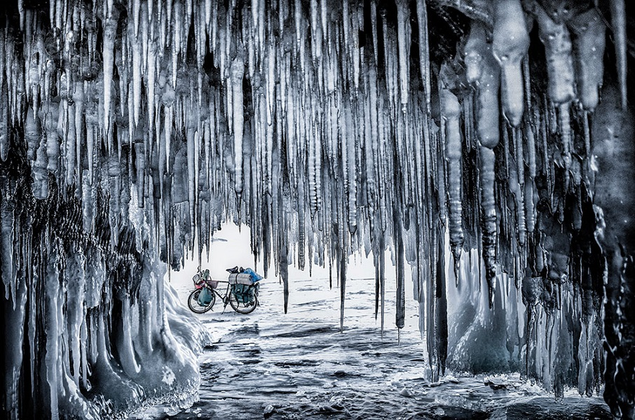 Jakub Rybicki received Best Single Image in a Portfolio for this image taken during an 800-kilometer bike trip across the frozen surface of Siberia's Lake Baikal.