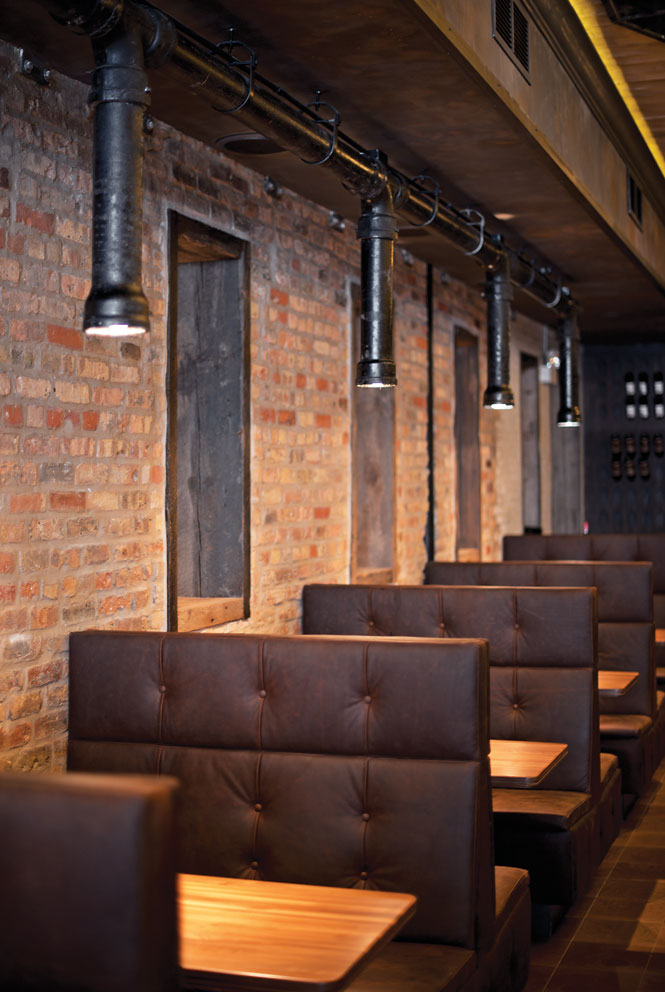 The industrial-style dining room at Trencherman, one of Chicago's most anticipated openings.