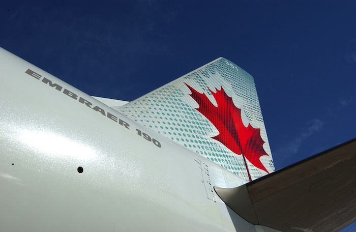 The signature maple leaf logo.