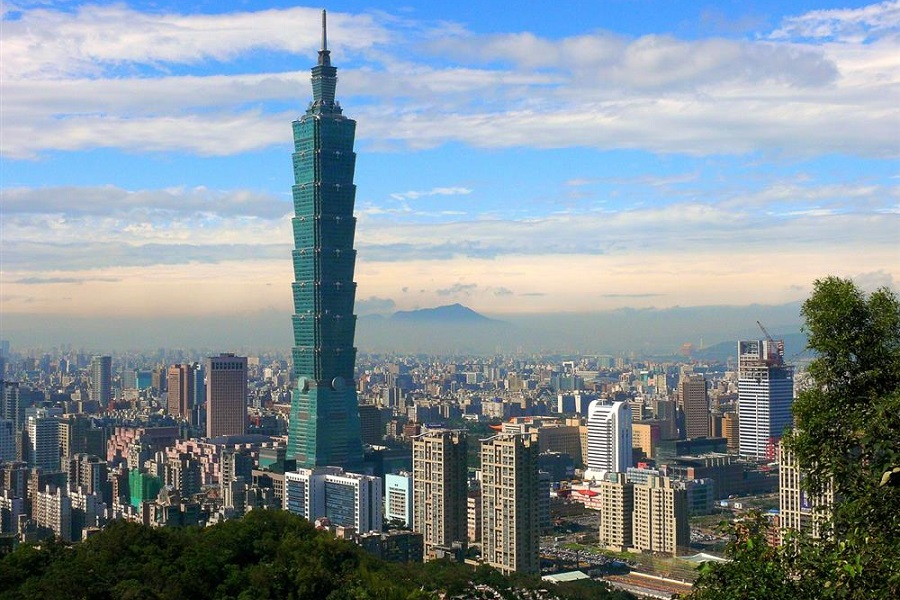 A view of the Taipei 101.