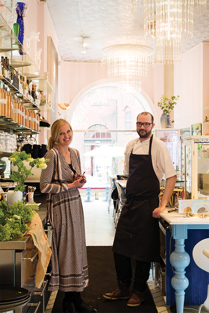 Royal Smushi Cafe owner Lo Ostergaard with chef Michael Jorgensen.