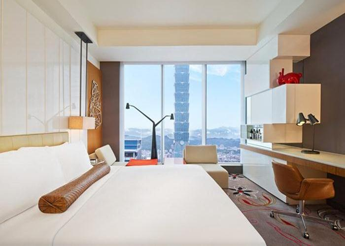 The W Taipei offers a visual feast with plenty of views of the iconic Taipei 101 skyscraper and a rotating collection of contemporary art.