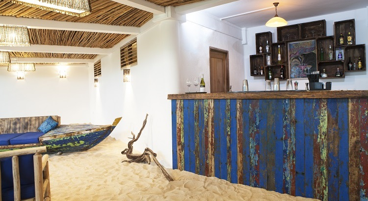 This rustic, sandy beach bar is one of the latest additions to Telunas Private Island this year.