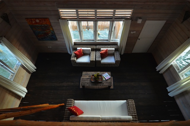 A look down from the children's loft in the Sea Villas.