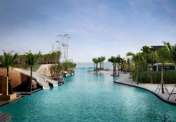 The lagoon pool.