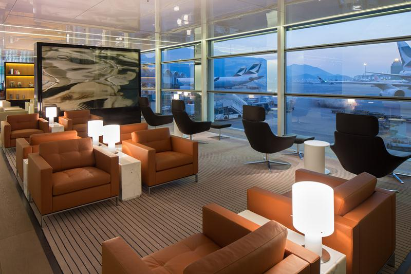 The new lounge was designed with a cozy residential space in mind.