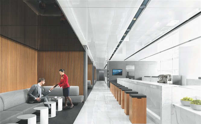 Air travel: a Cathay Pacific lounge