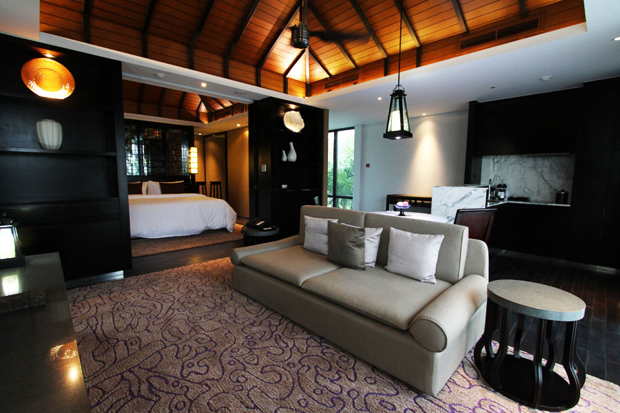 The master bedroom of the villa.