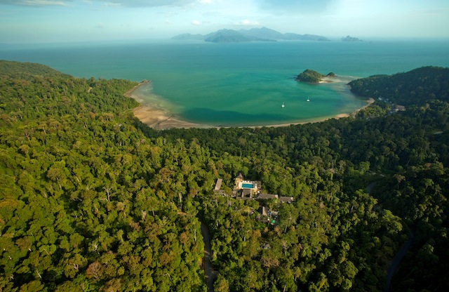 An aerial view of The Datai Langkawi.