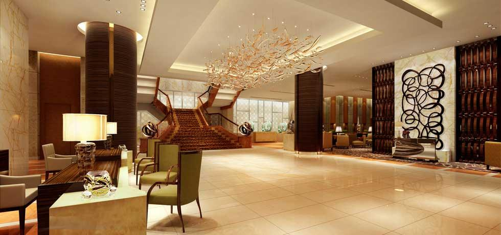 The Fairmont Makati lobby.