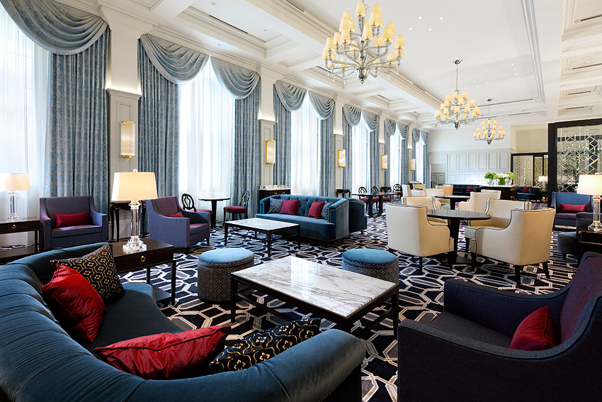 The Tokyo Station Hotel is designed in the classic European mold.