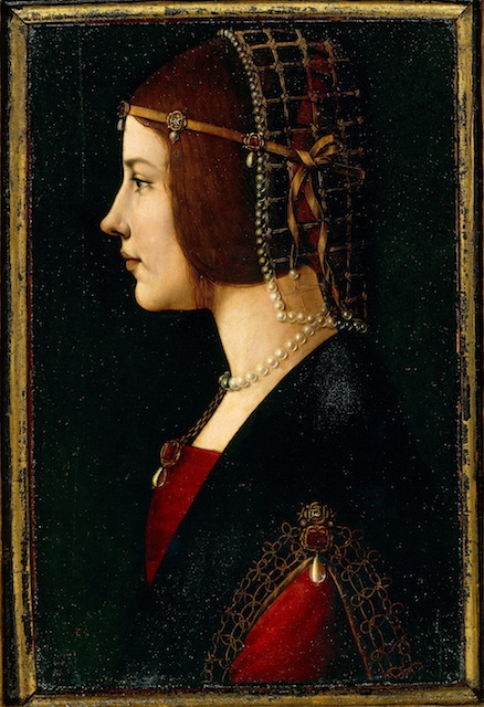 'Portrait of a Lady' contain references to da Vinci, such as the knotted golden braid on the lady's garment.