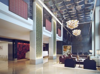The lobby of the Quin.