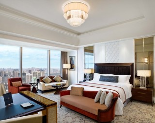Grand Deluxe rooms offer panoramic views and butler service.