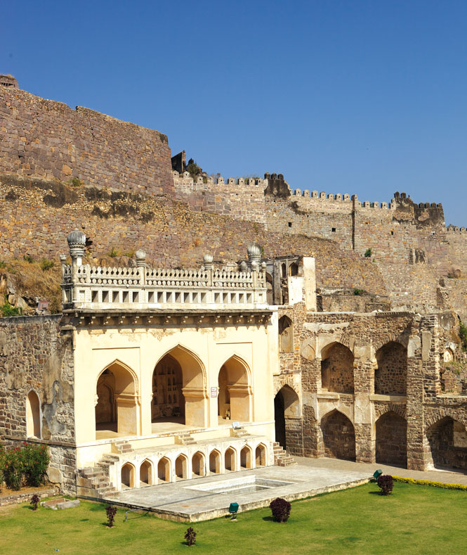 The Taramati Mosque  at Golconda Fort.