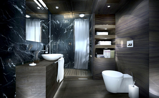 The master cabin's bathroom.