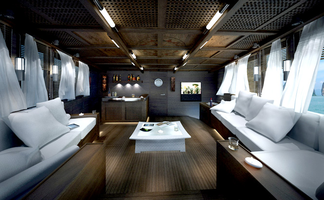 The master cabin's lounge.