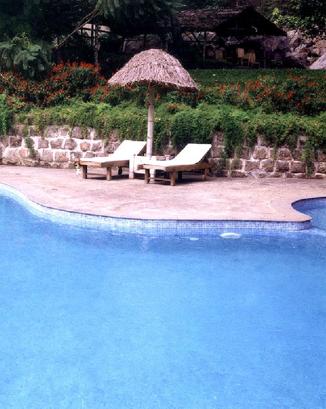 The pool at Kurumba Resort.