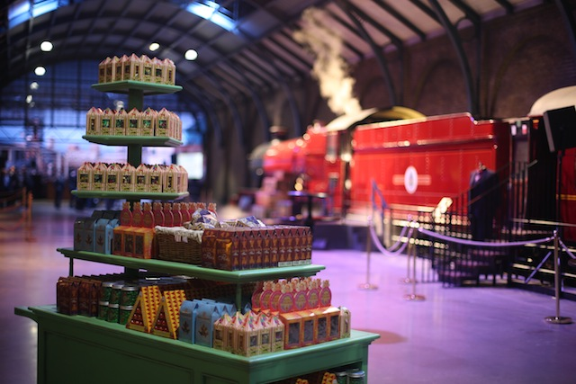 The sweet trolley on Platform 9 3/4 sells confections enjoyed by Harry and his friends on the Hogwarts Express.