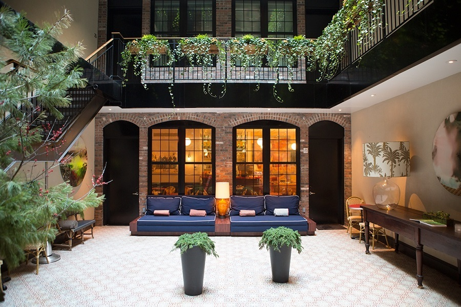 The Broome in NYC's Soho neighborhood features works by Keith Haring and Jean-Michel Basquiat.
