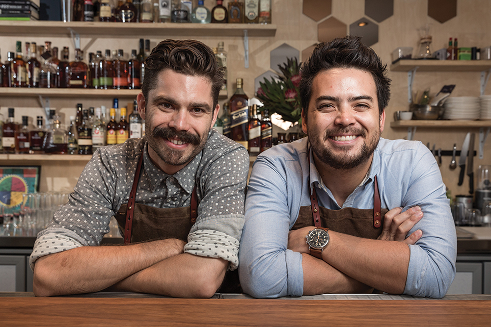 Top Sydney bartenders Charlie Ainsbury and Luke Ashton at their year-old This Must Be The Place.