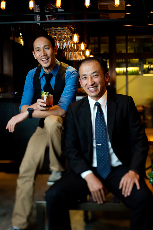 Bartender Max Gurung and floor manager Robin Ghale at Three Monkeys.