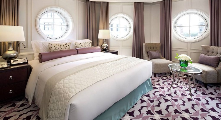 Rooms boast an elegant European design with a soft color palette.