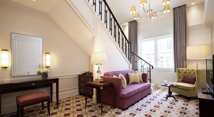 The hotel's Maisonette Suite offers a spacious two-storey abode at the top of the Station Building.