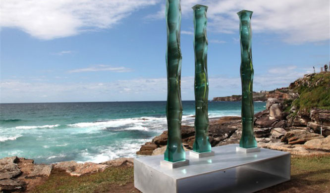 Sydney events: A work from Toshio Iezumi at Sydney's Sculpture by the Sea.