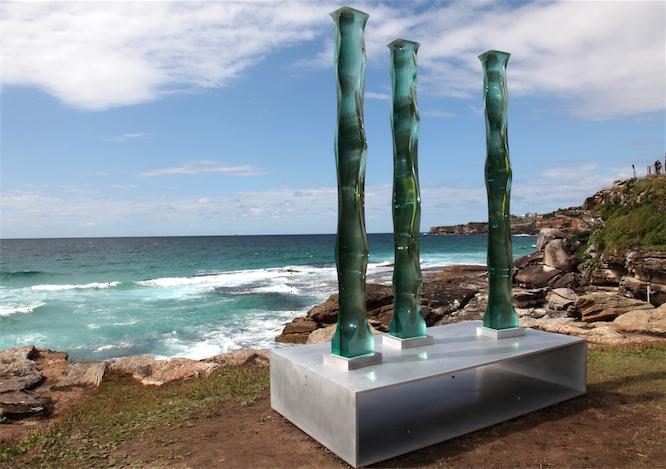 A piece by glass grinder Toshio Iezumi.