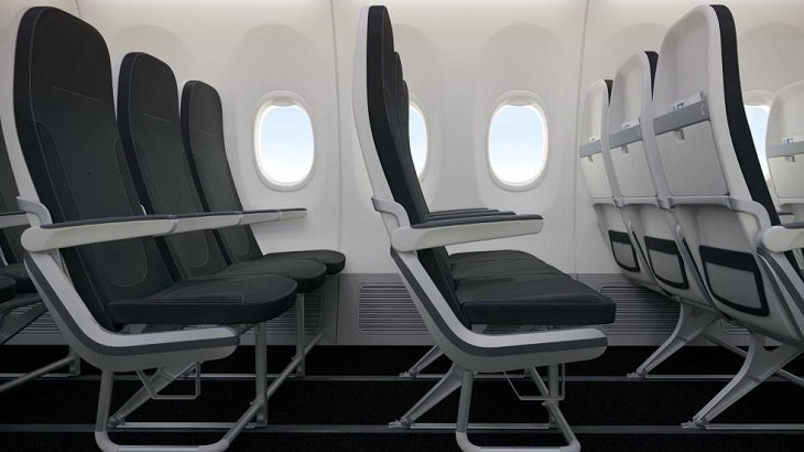 Tourist Class is designed to maximize passenger seating space.