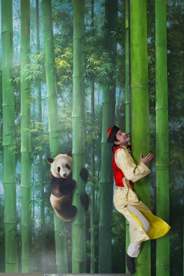The museum is divided into six sections, including safari-themed natural habitats, such as a panda's bamboo forest.
